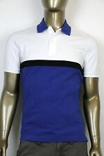 New Authentic Gucci Mens  Polo Golf Shirt Whit/Blue w/Hysteria Crest 354346 4249