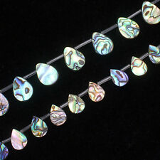 """10-18mm Beautiful Multi-Color Abalone Shell Water-Drop Loose Beads 15"""""""