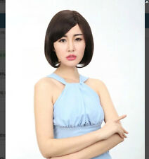 Lady Short Straight Black Or Brown Synthtic Hair Cosplay Aime Wigs Full Wigs+Cap