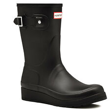 Womens Hunter Original Short Wedge Sole Galoshes Wellingtons Rain Boots US 5-11