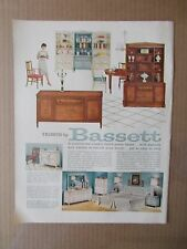 BASSETT FURNITURE 1960 VINTAGE MAGAZINE AD  INV#241