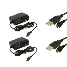 2X Wall Travel Home Charger + 2X USB Data Cable Accessory for Cell Phones