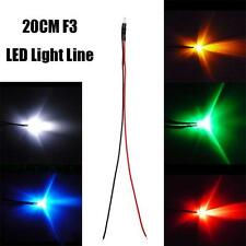 New 6mm 20cm Pre-Wired Diffused LED Diode Light Cable Line Wire Emiter 12V