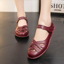 Women's Lady genuine Leather Comfort Flats Slip On Sneakers Casual Shoes XC66