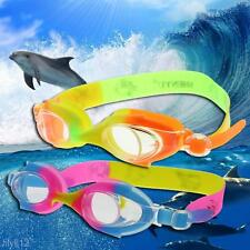Children Kids Silicone Anti Fog UV Shield Swimming Glasses Goggles Eyewear Boxed