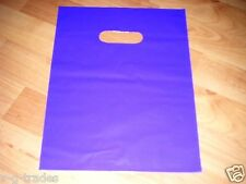 "LOT OF 100 9"" x 12"" PURPLE GLOSSY Low-Density Plastic Merchandise Bags Gift Bags"
