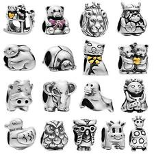 Romacci 925 Sterling Silver Cartoon Animal fit European Charm Bead Bracelet B8D0
