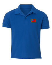 Taiwan Flag Embroidered Kid Children Youth Polo Shirt/XS-XL Youth Size