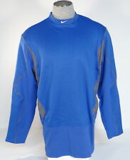 Nike Pro Combat Dri Fit Blue Hyperwarm Fitted Thermal Athletic Shirt Mens