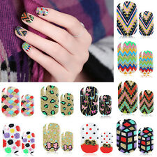 Water Transfer Full Nail Wrap Sticker Art Polish Foils Decal DIY Tips Decor US