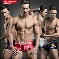 New Superbody Men Sexy Low Rise Trunk Boxer Briefs Underwear Male Underpants XXL