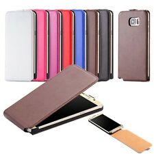 Deluxe Magnet Cover Real Cow Leather Case For Samsung Galaxy S5 S6 S7 edge Plus