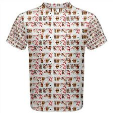 Poker Playing Cards Collage Sublimated Mens T-Shirt S,M,L,XL,2XL,3XL