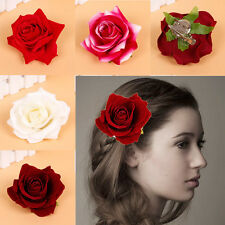 Elegant Rose Hair Clip Brooch Flower Bridal Pin Up Wedding Prom Party Hairpin