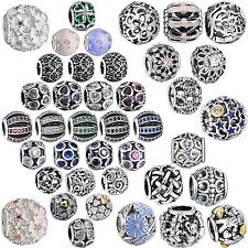 Crystals Rhinestones Bead Genuine 925 Silver Charms For Sterling Women Bracelets