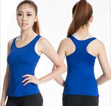 Womens Compression Top Tights Base Layer Sleeveless Pro Shirts Vest Under Skins