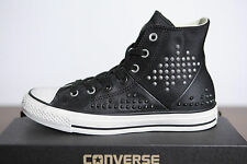 New All Star Converse Chucks Hi Leather Studded Rivets 542418c Size 36,5 2-14
