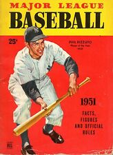 1951 Major League Baseball magazine Facts Figures Phil Rizzuto, Yankees ~ Good