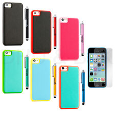 Colorful Heavy Duty Hybrid Rugged Hard Cover case  +Stylus+Film For iphone 5c SE