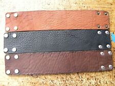 Customize wrist size Men cuff Bracelet Genuine Buffalo Bison leather handmade