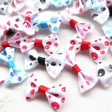10/50PCS Bubble Ribbon Flowers Bows Wedding Appliques Craft Dec Mix