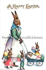 Mom & Baby Bunnies ~ Easter Rabbits ~ Counted Cross Stitch Pattern