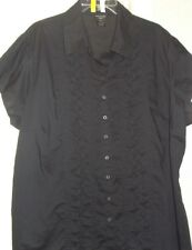 Woman Plus Size 26/28W and 3X 22/24W Shirts Short Slv Dressy Casual Career Tunic