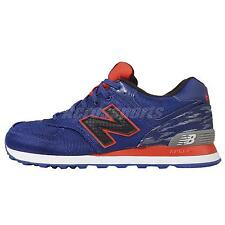 New Balance ML574SIA D Blue Black Orange Mens Classic Running Shoes ML574SIAD