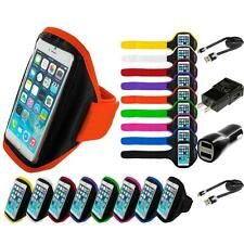 For Apple iPhone 6S (4.7) Gym Sport Running Armband Arm Band Case 2X Chargers