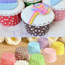 50x Paper Cake Cup Cupcake Wrapper Cases Muffin Baking Wedding XMAS Party