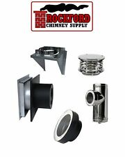 Rock-Vent Class A Through the Wall Insulated Chimney Pipe Kit Ventis Compatible