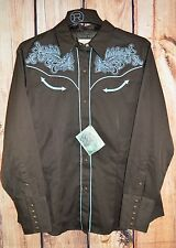 ROPER Old West PAISLEY Embroidery ARENA Western SHIRT COWGIRL NWT XL