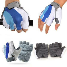 Sport Bicycle Bike Motorcycle Gel Silicone Half Finger Fingerless Gloves M-L-XL