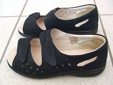 PAVERS LEATHER WIDE FIT NAVY BLUE 2 VELCRO STRAPS SIZE 5
