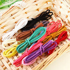 Hot Flat Real Suede Leather Cord Lace Thong Jewellery Making String Craft 1M 3mm