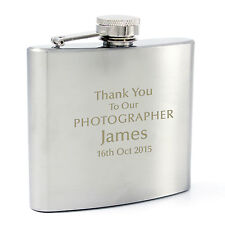 Personalized Engraved 6oz Hip Flask - Wedding, Free Engraving