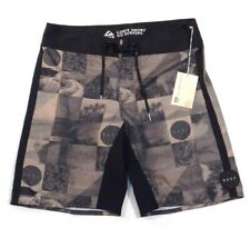 Reef Vintage Ocean Black & Brown Graphic Boardshorts Mens NWT