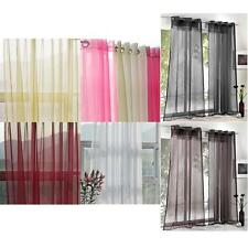 White/Pink/Beige/Brown/Black/Amaranth Drape Curtains Sheer Voile