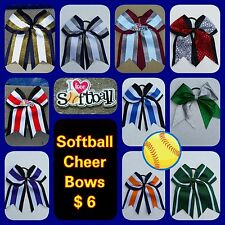 Softball Bows, Cheer Bows, Big Bows, Hair Bows Cheerleading, SOCCER DANCE SPORTS