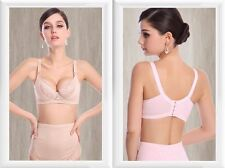 Sexy Lace Embroidered Maternity Nursing Bra Breast-feeding Design Bra Nude/Pink