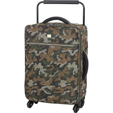 IT Luggage World's Lightest Quilted Camo 21.7 inch 4 Small Rolling Luggage NEW