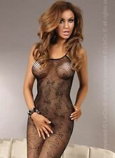 Sexy Fishnet Crotchless Bodystocking Livco Corsetti Lingerie Ophelia Black