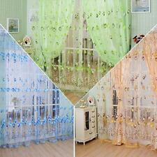 Tulip Sun-shading Sheers Curtains Voile Tulle Window Door Curtain Divider K8L2