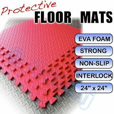 Anti-Fatigue Protective Workshop Floor Mats Tiles RED