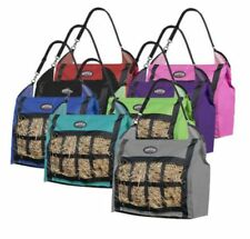 Horse Showman Heavy Duty Slow Feed Large Holes Hanging Hay Tote Bag Trailer Barn