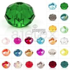72-150pcs Crystal Loose Beads Czech Rondelle Fit Necklace Jewelry 4/6/8mm