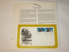 US Stamps PCS Panel FDC #2220-21 Polar Explorers Kane and Greely 1986