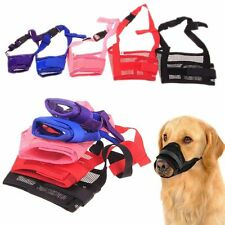 Pet Dog Mask Bark Bite Mesh Mouth Muzzle Grooming Anti Stop Chewing Choose Size