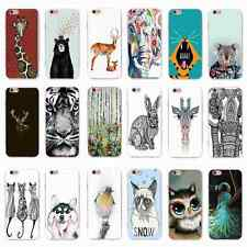 Cute Wild Animal Printed Pattern Soft Back Case Cover Skin for iPhone&Samsung