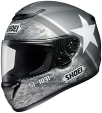 Shoei Qwest Full-Face Motorcycle Helmet -  RESOLUTE TC-5 Silver - Adult XS-2XL
